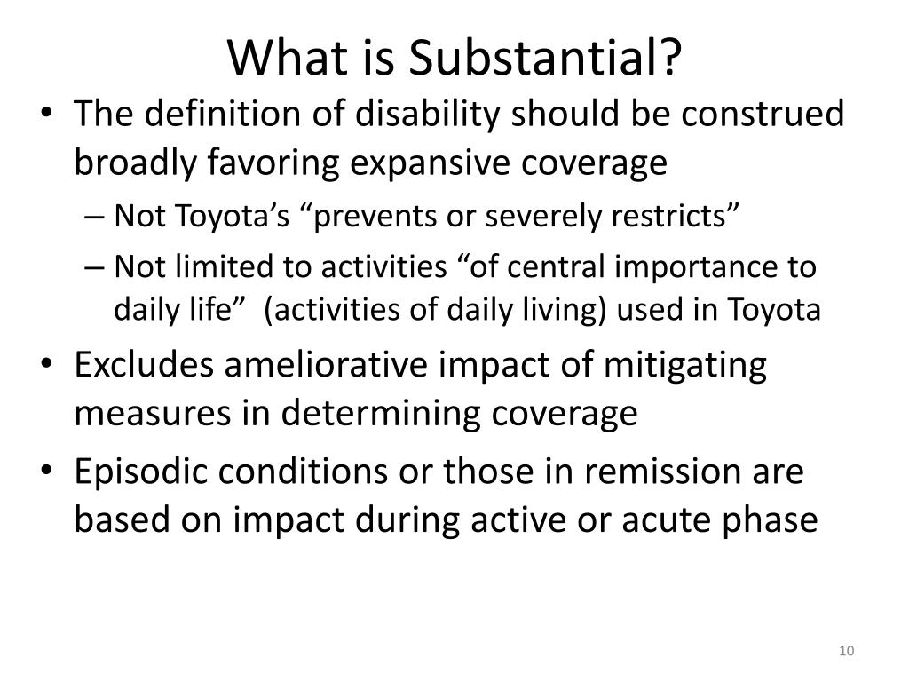 What is Substantial?