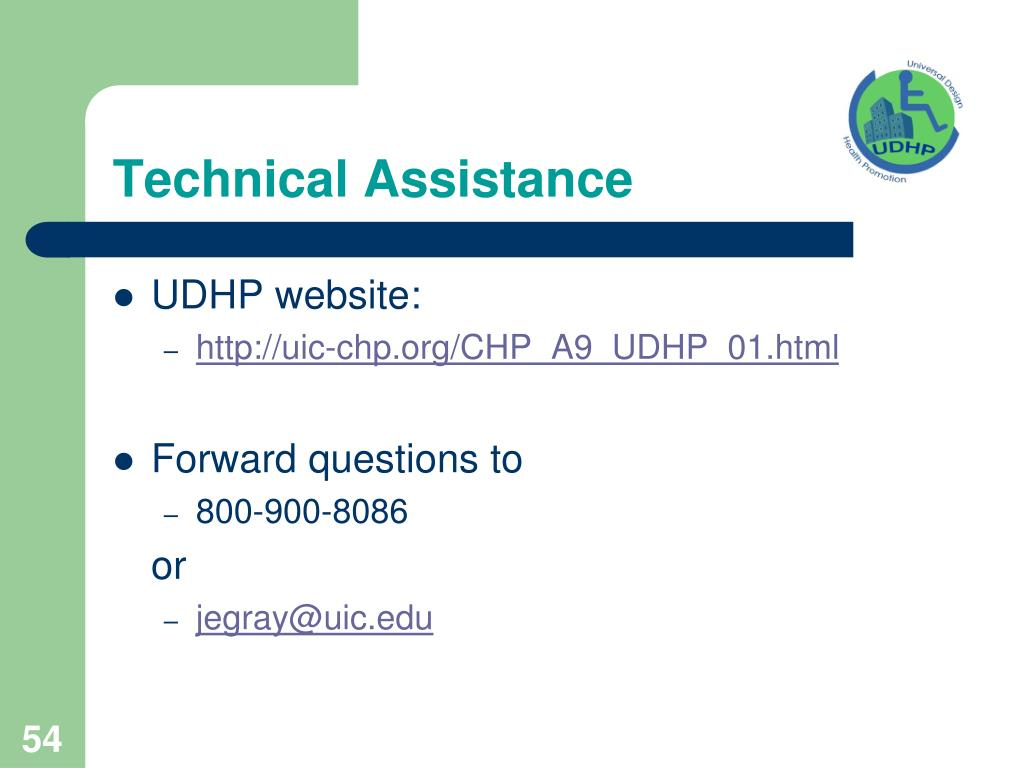 Technical Assistance
