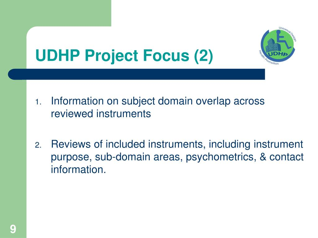 UDHP Project Focus (2)