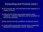 accounting and finance cont