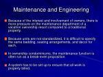 maintenance and engineering