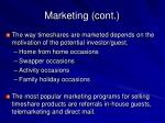 marketing cont