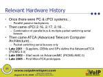 relevant hardware history