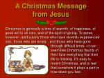 a christmas message from jesus