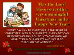 may the lord bless you with a very meaningful christmas and a happy new year