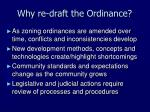 why re draft the ordinance