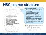hsc course structure