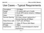 use cases typical requirements