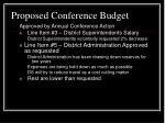 proposed conference budget36
