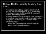 retiree health liability funding plan cont