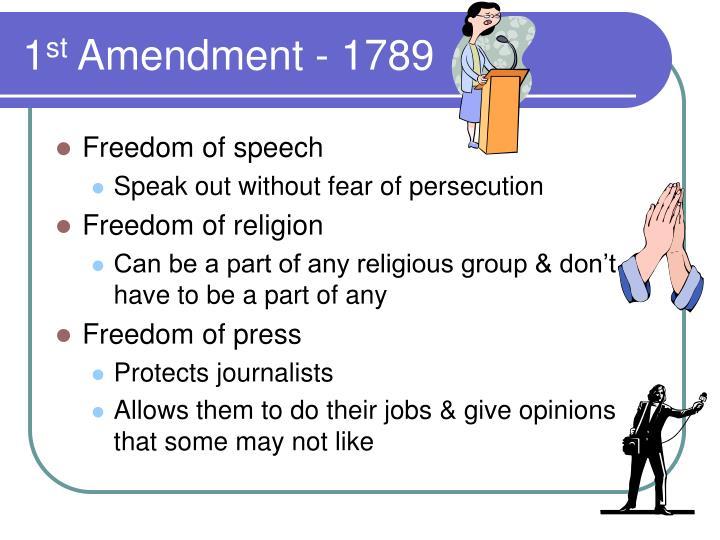 1 st amendment 1789