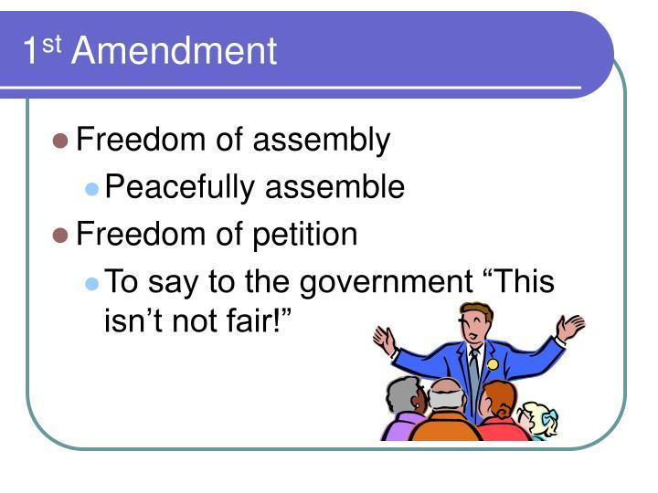 1 st amendment