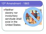 13 th amendment 1865