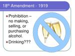 18 th amendment 1919