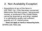 2 non availability exception