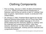 clothing components