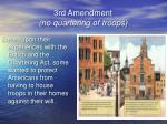 3rd amendment no quartering of troops