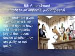 6th amendment right to an impartial jury of peers