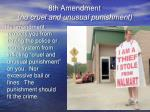 8th amendment no cruel and unusual punishment