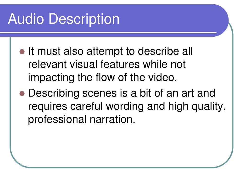 Audio Description