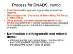 process for dnads cont d