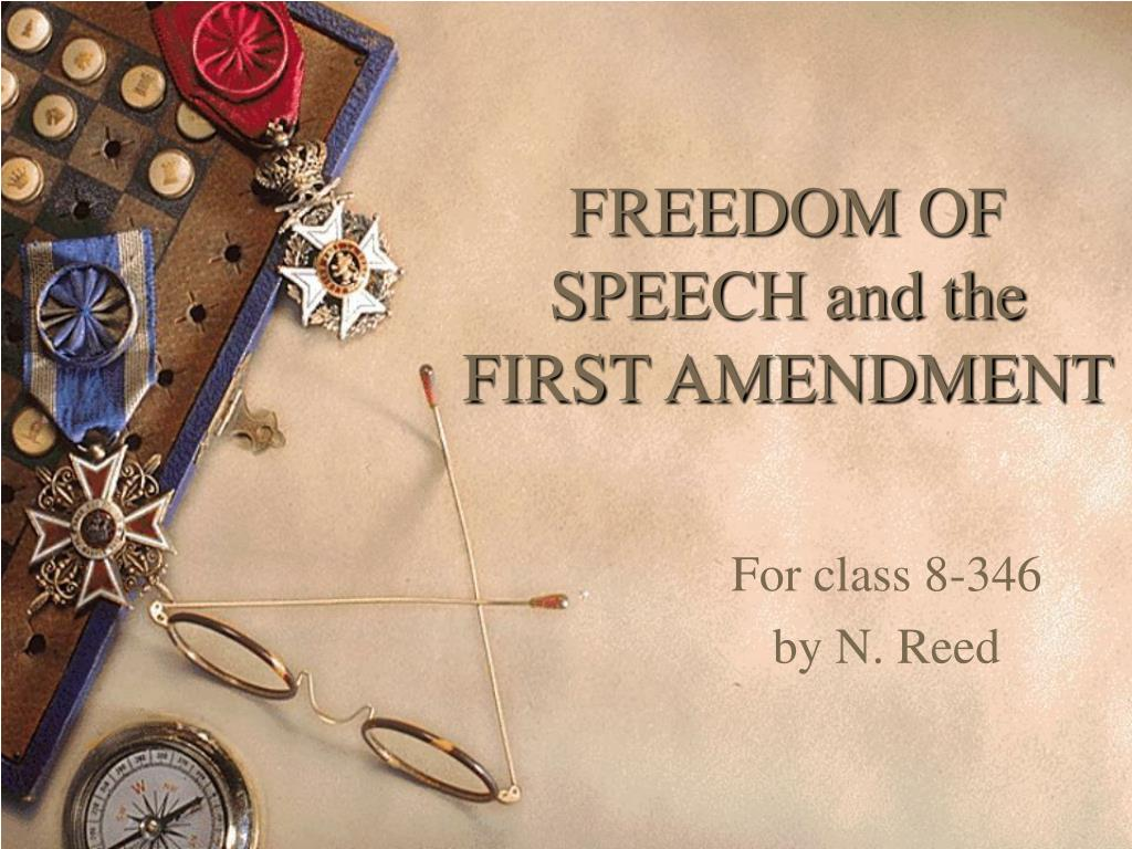freedom of speech and the first amendment l.