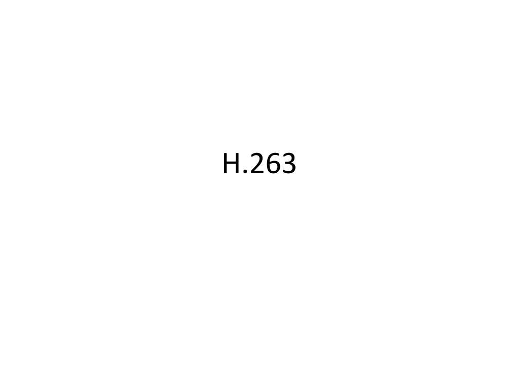 h 263 l.