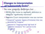 changes to interpretation of substantially limits