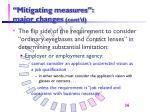 mitigating measures major changes cont d36