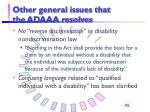 other general issues that the adaaa resolves