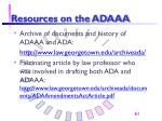 resources on the adaaa61
