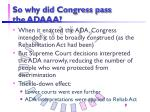 so why did congress pass the adaaa