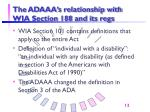 the adaaa s relationship with wia section 188 and its regs
