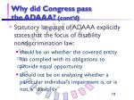 why did congress pass the adaaa cont d
