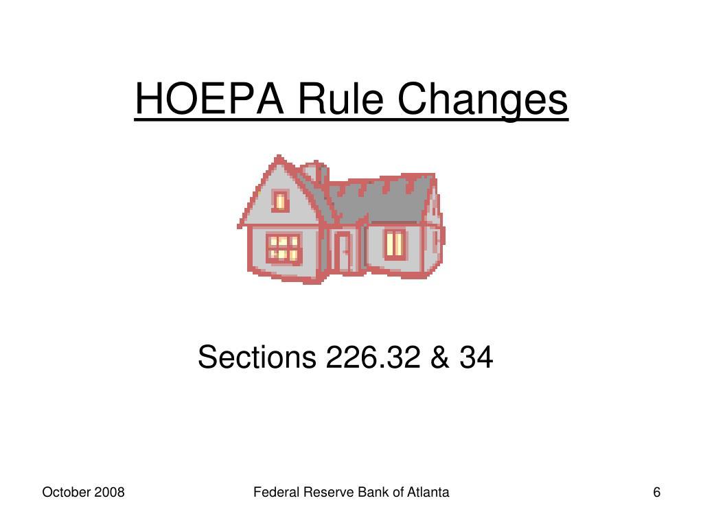 HOEPA Rule Changes