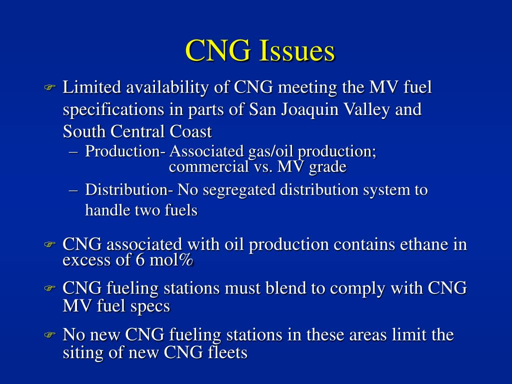 CNG Issues