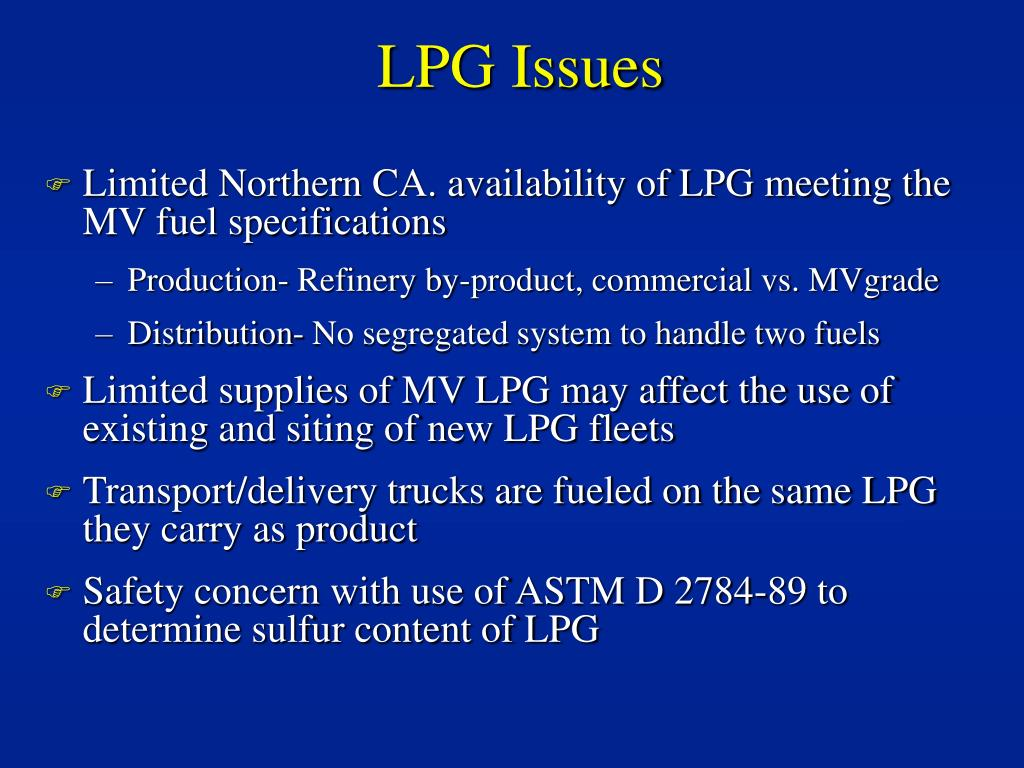 LPG Issues