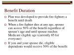 benefit duration