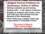 3 biggest internet problems for businesses online or offline