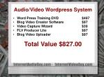 audio video wordpress system