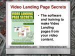 video landing page secrets