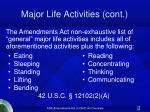 major life activities cont26