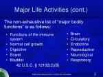 major life activities cont27