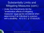 substantially limits and mitigating measures cont