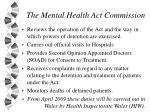 the mental health act commission