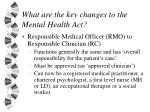 what are the key changes to the mental health act