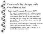 what are the key changes to the mental health act17