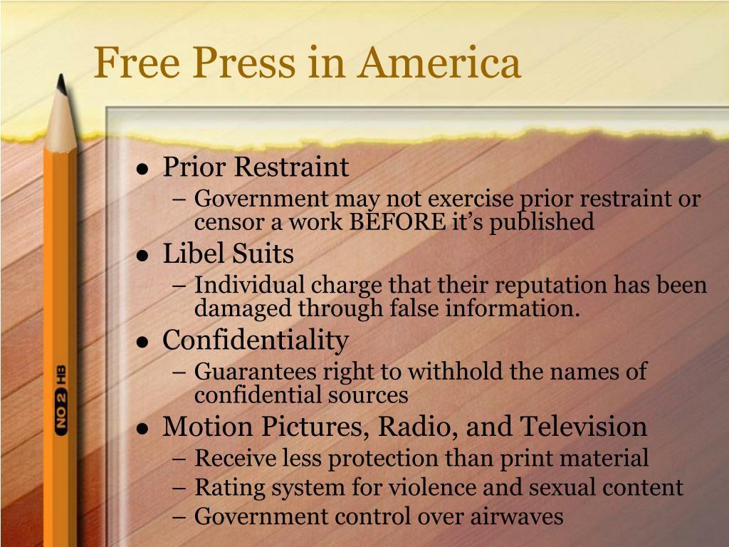 Free Press in America
