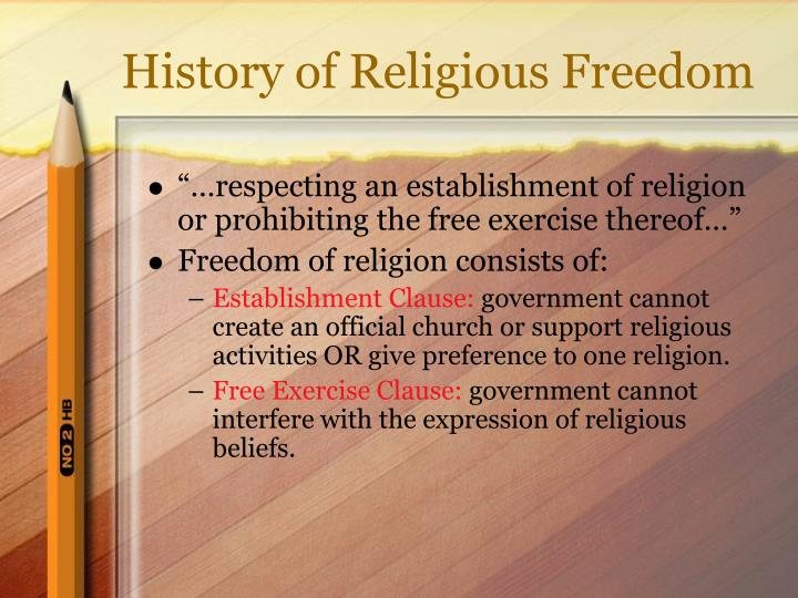 History of religious freedom