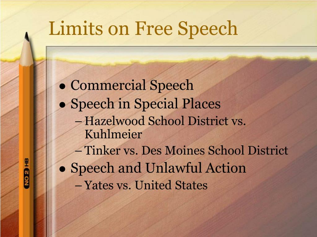 Limits on Free Speech